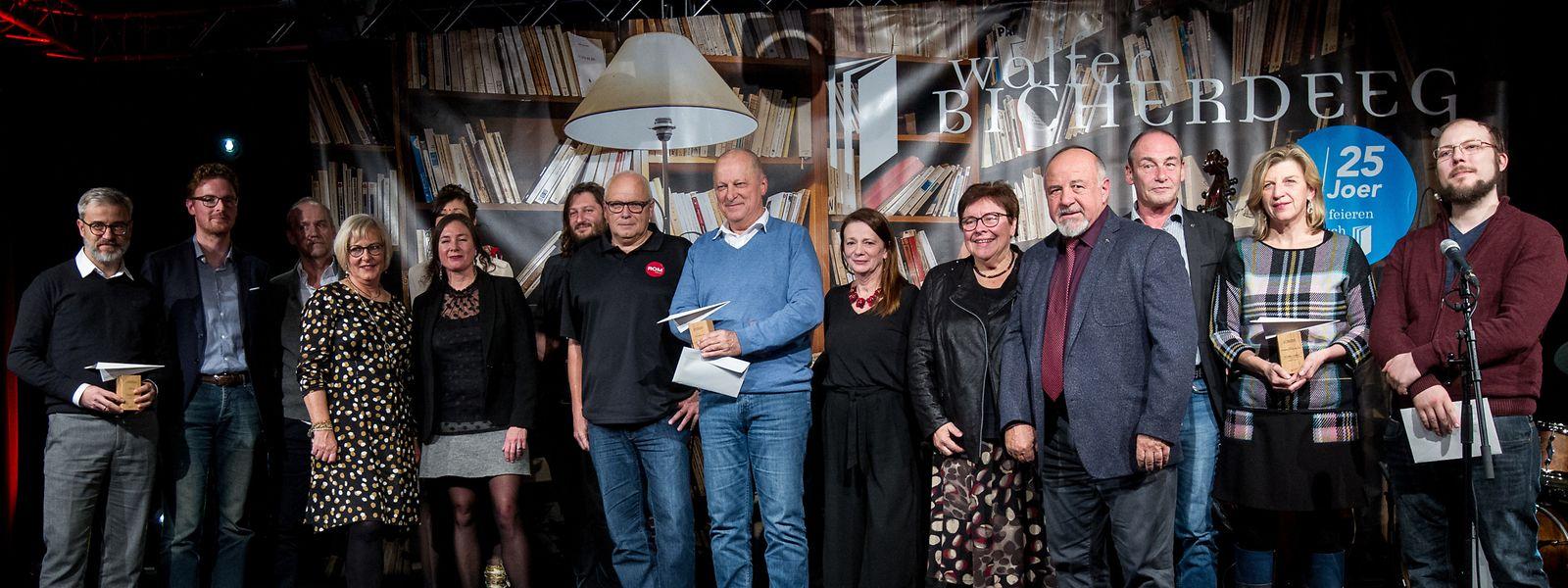 Glückliche Gewinner, Verleger, Jurymitglieder.