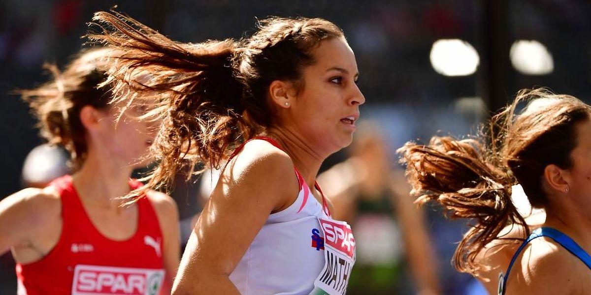 Charline Mathias a amélioré son temps des qualifications mais elle n'est pas parvenue à se classer parmi les trois premières de sa série.