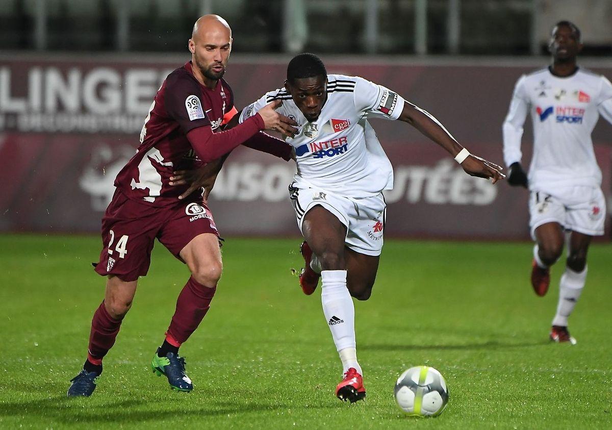 Renaud Cohade et les Messins ont été dépassés par la vitesse de leurs adversaires.