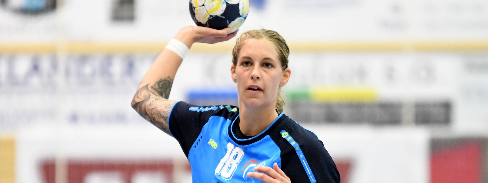Tina Welter, hier im Trikot der Nationalmannschaft, spielt seit 2019 in der 1. Bundesliga.