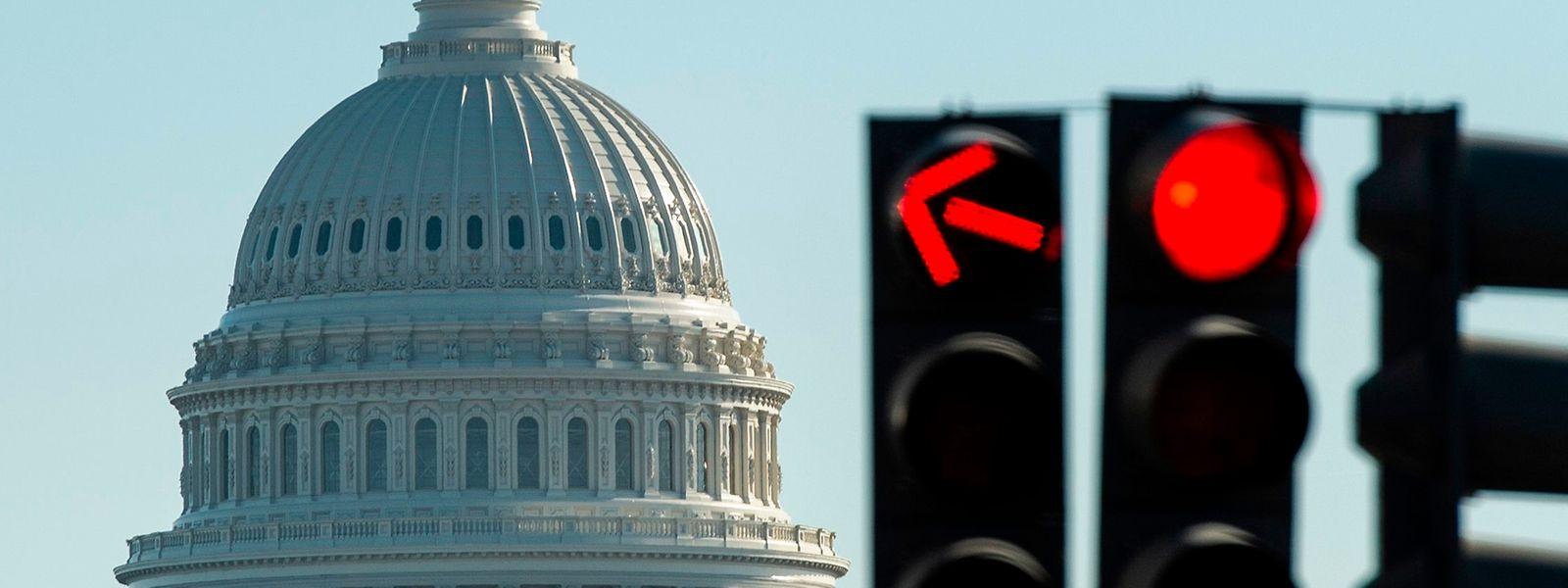 Blick auf das Kapitol in Washington: Kann man den Haushaltsstreit beilegen und einen zweiten Stillstand der Regierung verhindern?