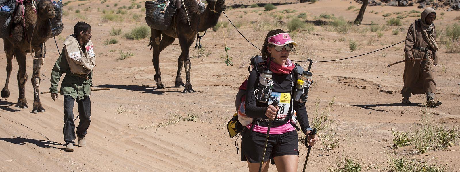 Bei Etappenrennen hat Kristina Wagner Erfahrungen gesammelt, hier während des diesjährigen Marathon des Sables.