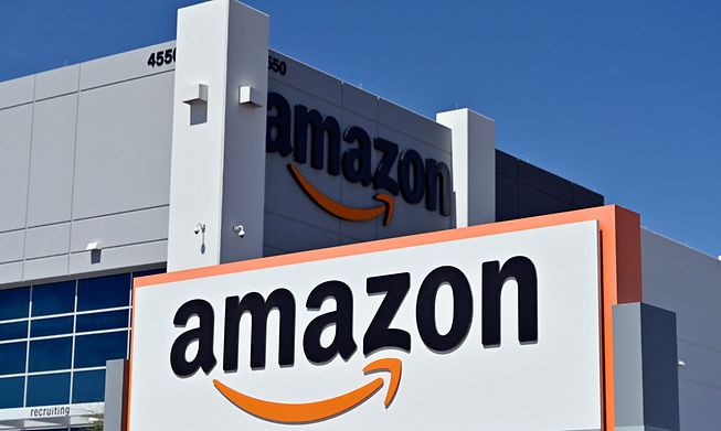An Amazon distribution center is seen on April 25, 2020 in North Las Vegas, Nevada.