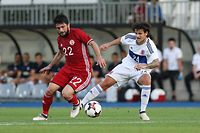 Giorgi Navalovski (Georgien - 22) – Olivier Thill (Luxemburg - 24) / Fussball Freundschaftsspiel / 05.06.2018 / Luxemburg - Georgien / Stade Josy Barthel / Foto: Yann Hellers