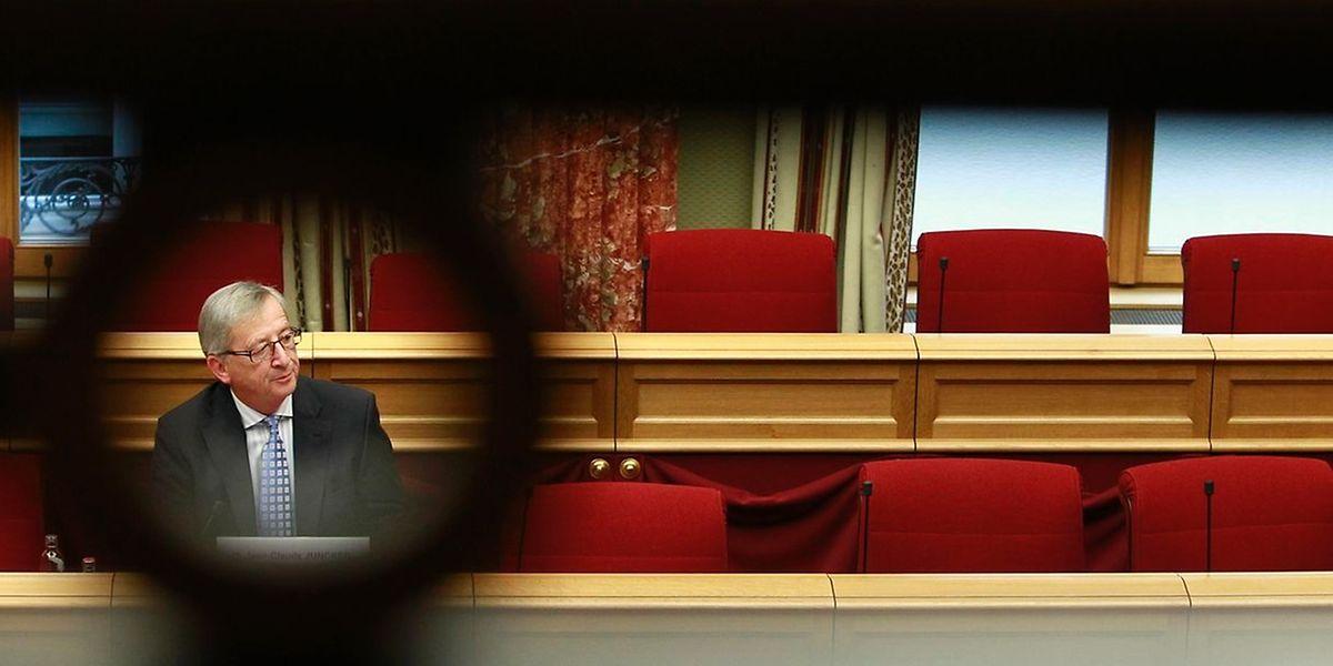 Jean-Claude Juncker bei seiner Anhörung vor der Untersuchungskommission am vergangenen Freitag.
