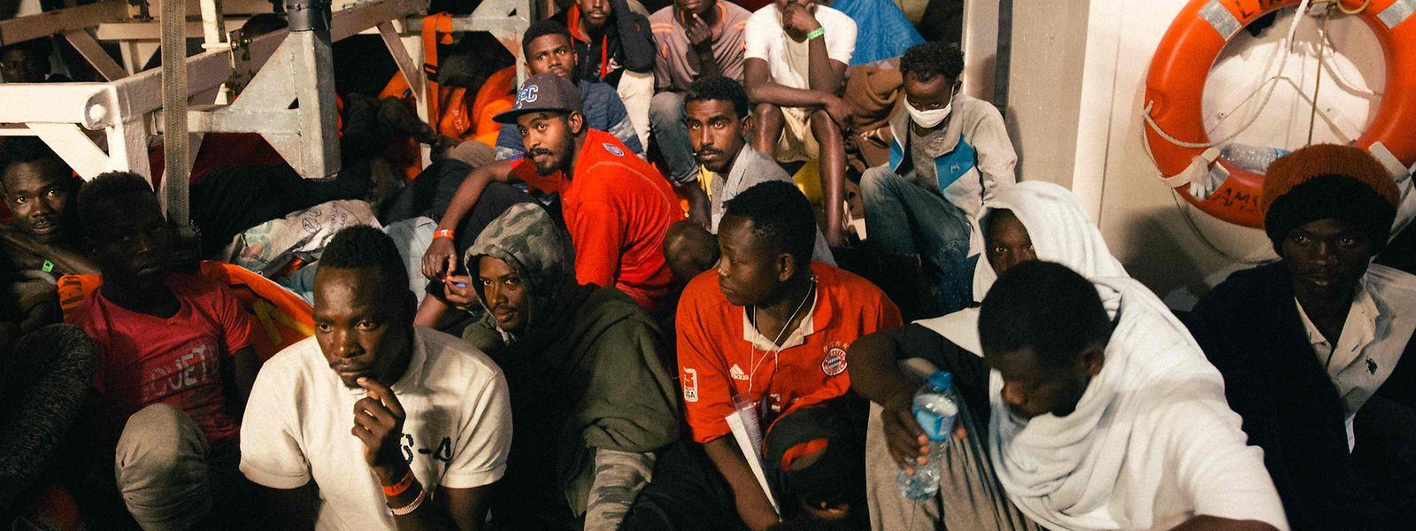 Die Flüchtlinge wurden vor der libyschen Küste gerettet.