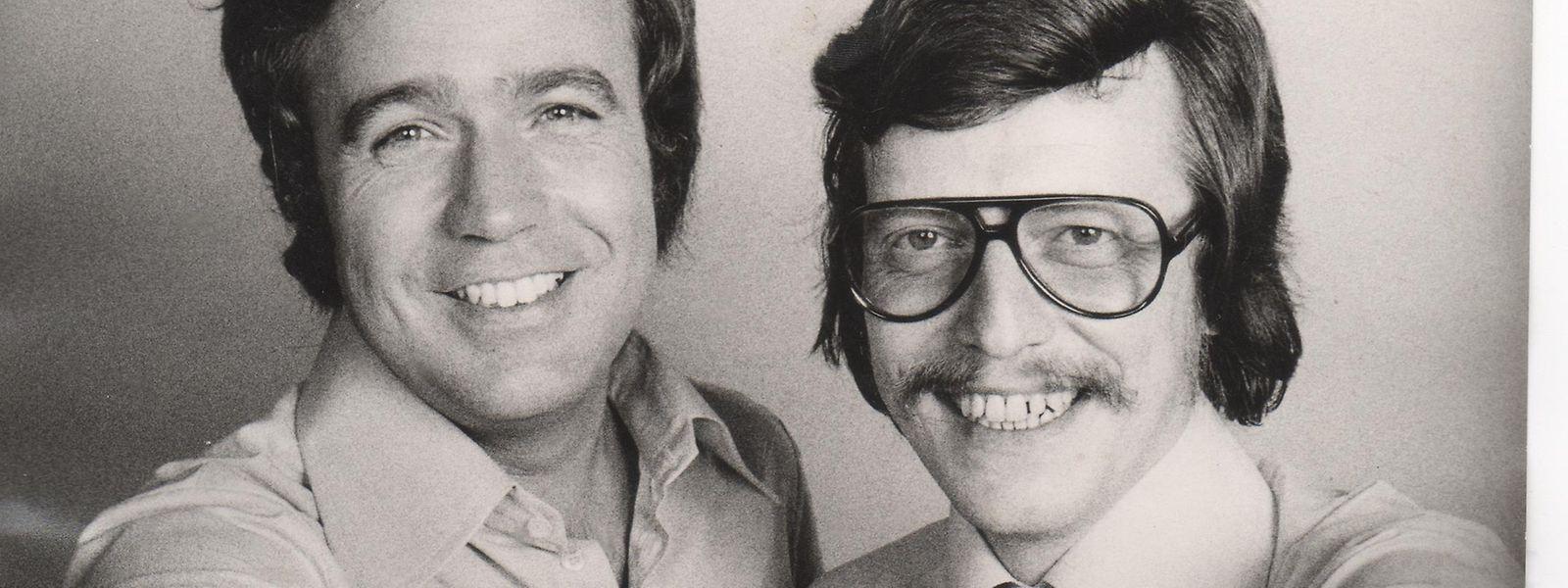 """Ein gutes Team bei den """"Fröhlichen Wellen von Radio Luxemburg"""": Rainer Holbe (l.) und Jochen Pützenbacher."""