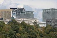 Lokales, Touristen, Bockfelsen, Sicht auf den Kirchberg, Tourismus, Foto, Luxemburgische (Vakanz Doheem) und Touristen aus dem Ausland Foto: Anouk Antony/Luxemburger Wort