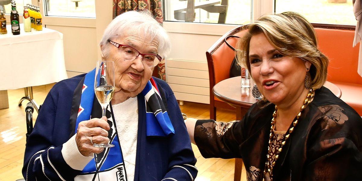 Germaine Kauffmann feierte ihre 110 Jahre in Anwesenheit von Großherzogin Maria Teresa.