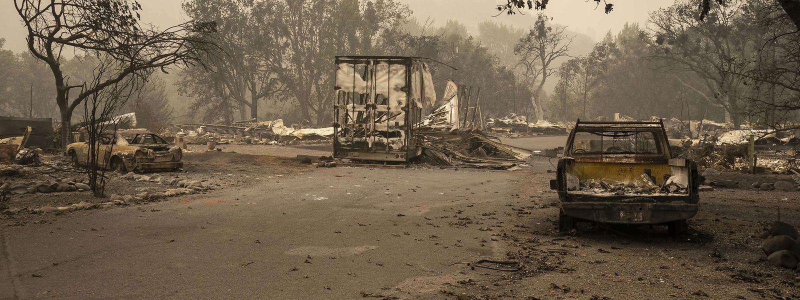 Eine Wohnsiedlung in Ashland (Oregon) wurde durch einen Waldbrand komplett zerstört.