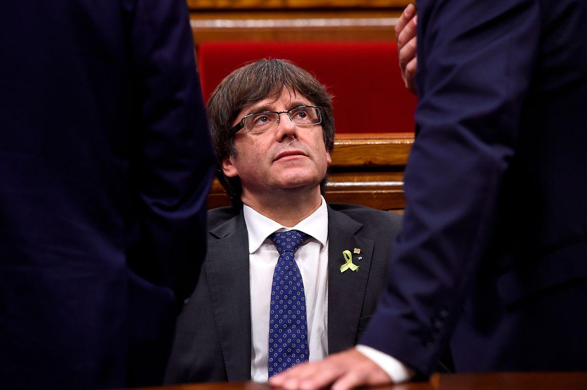 Puigdemont riskiert immer noch, bei einer Rückkehr nach Spanien festgenommen zu werden.      / AFP PHOTO / Josep LAGO