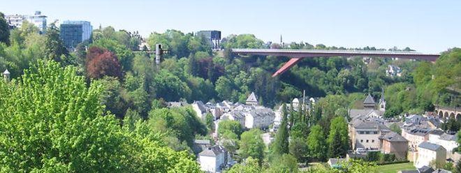 Der Panoramalift bietet einen Blick über das gesamte Pfaffenthal.