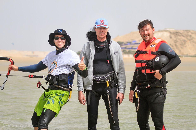 Prinz Sébastien mit Großherzog Henri beim Kitesurfen in Dakhla.