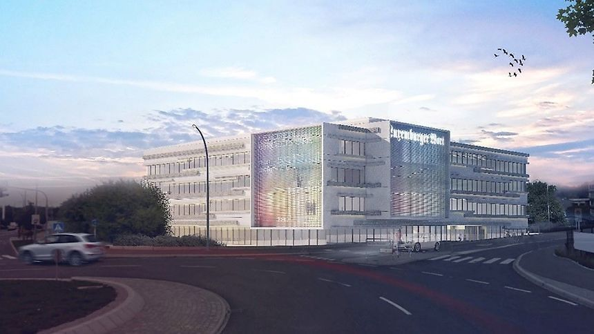 Le site s'étend sur 5.676 m2 et accueillera 300 employés du groupe de presse.