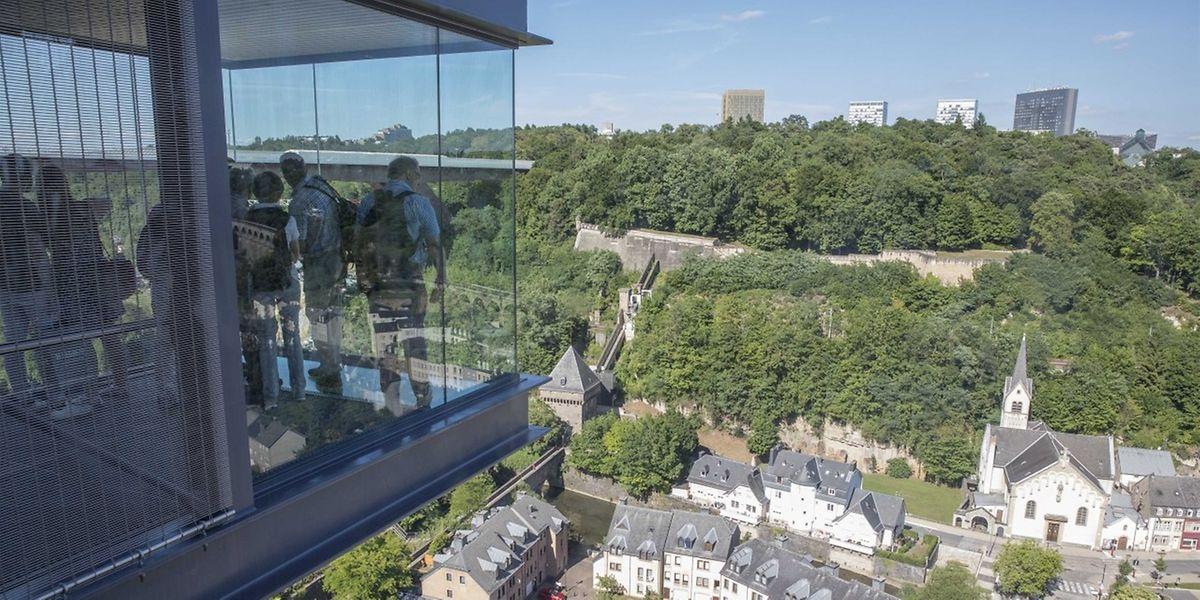 Der Panoramalift beschert dem Pfaffenthal viele Besucher.