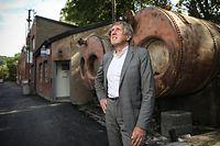 François Bausch sur le site de l'ancienne aciérie de Dommeldange. Son père travaillait ici. «Son engagement social a eu un fort impact sur moi», raconte Bausch.