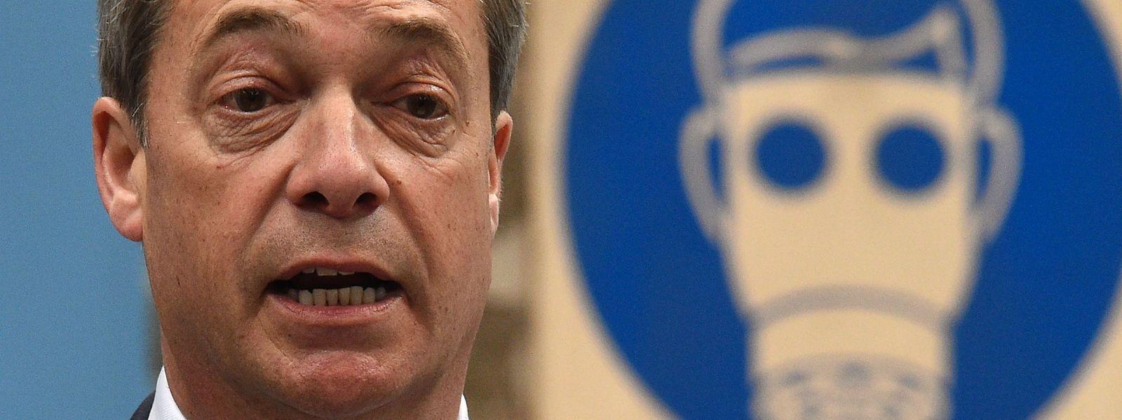 Nigel Farage rechnet damit, dass seine Brexit Party die EU-Wahl gewinnen könne.