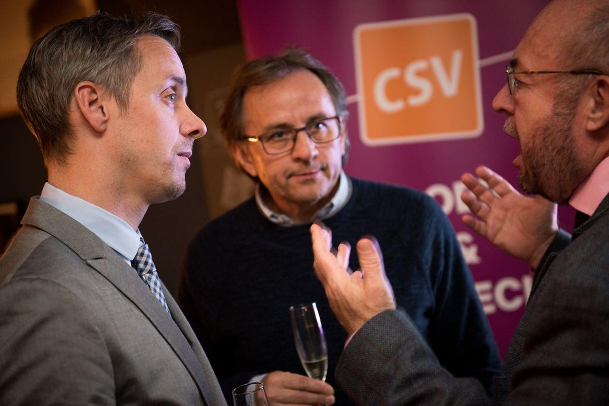 Selon Georges Mischo (à g.), les premiers entretiens en vue d'une coalition avec le DP ont été positifs