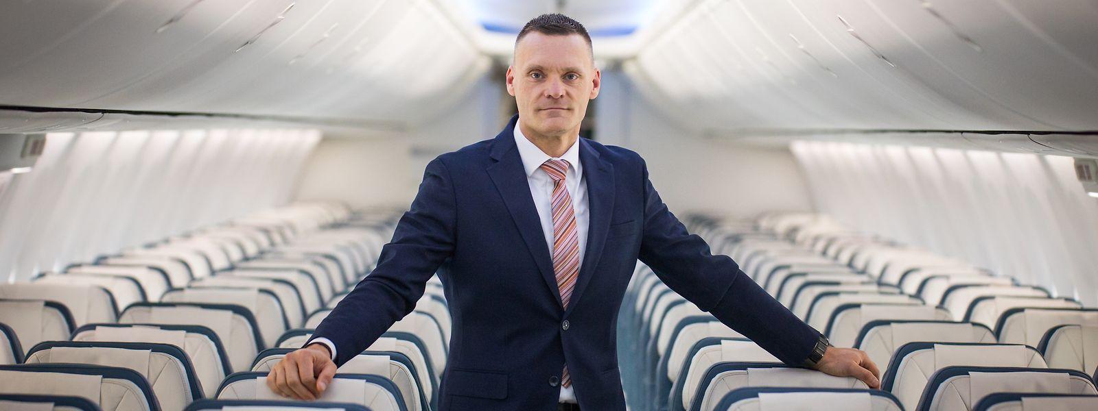 """Viel Elan im Unternehmen"""": Gilles Feith hat am 1. Juni, seinem 44. Geburtstag, den Steuerknüppel bei Luxair übernommen."""