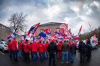 piquet de protestation OGBL - TICE - Esch/Alzette -  - 04/02/2020 - photo: claude piscitelli