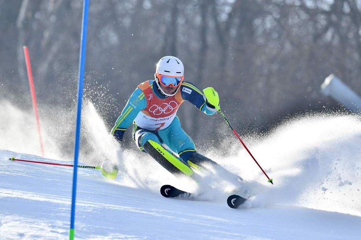 En décrochant l'or sur la slalom, le Suédois Andre Myhrer a conquis sa deuxième médaille olympique