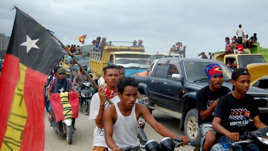"""O Presidente timorense homenageou hoje os """"jovens de coragem"""" que lutaram contra a ocupação indonésia de Timor-Leste"""