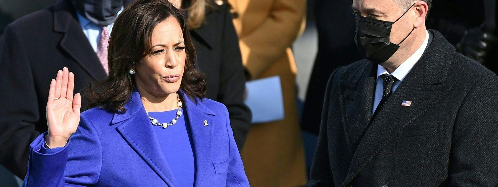 Kamala Harris geht als erste Frau und erste Schwarze im Vizepräsidentenamt in die Geschichte der USA ein.