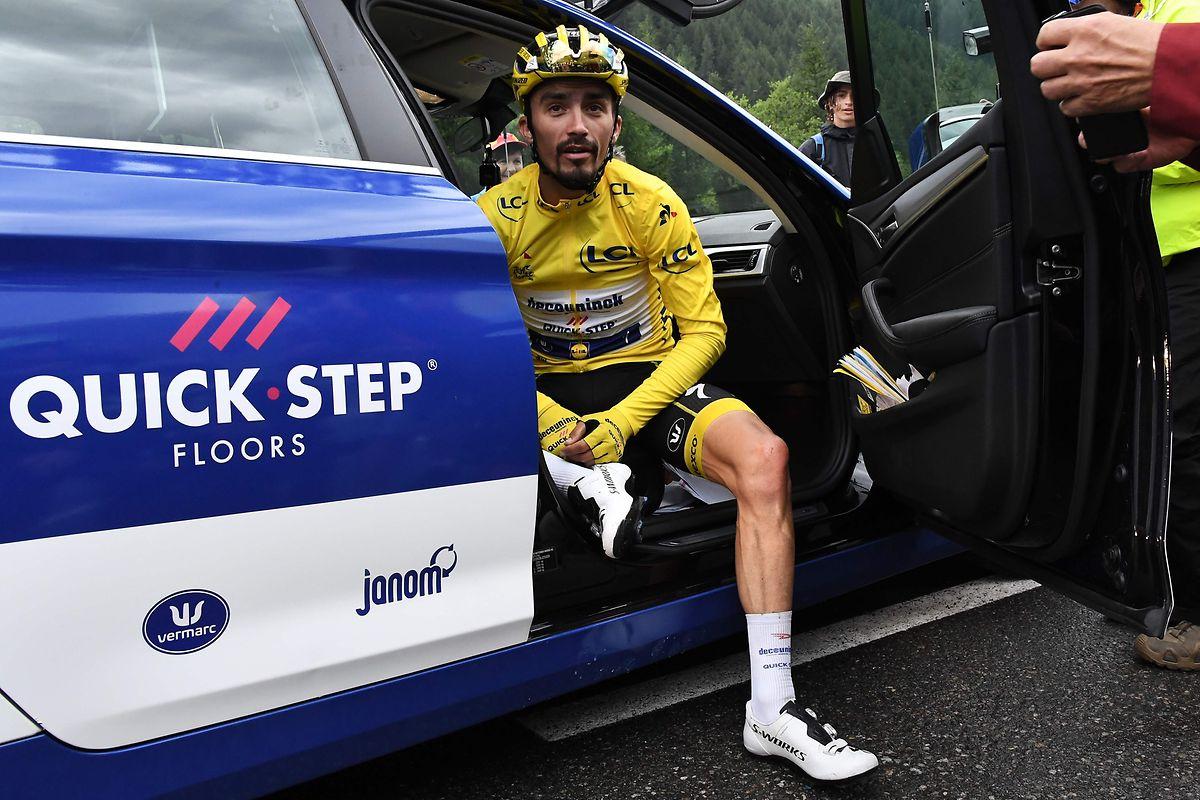 «Je ne pense pas que le maillot jaune soit possible, j'ai été battu par plus fort que moi, c'est comme ça», a déclaré Julian Alaphilippe.
