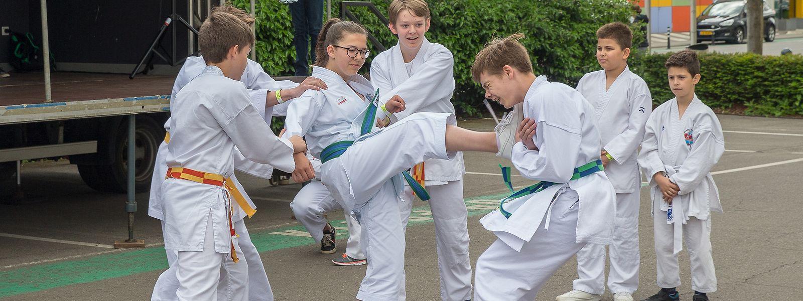 Viele Kinder zeigten Begeisterung für Kampfsportarten.