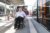 Luxtram travaille avec plusieurs associations afin de construire des infrastructures accessible pour tous.