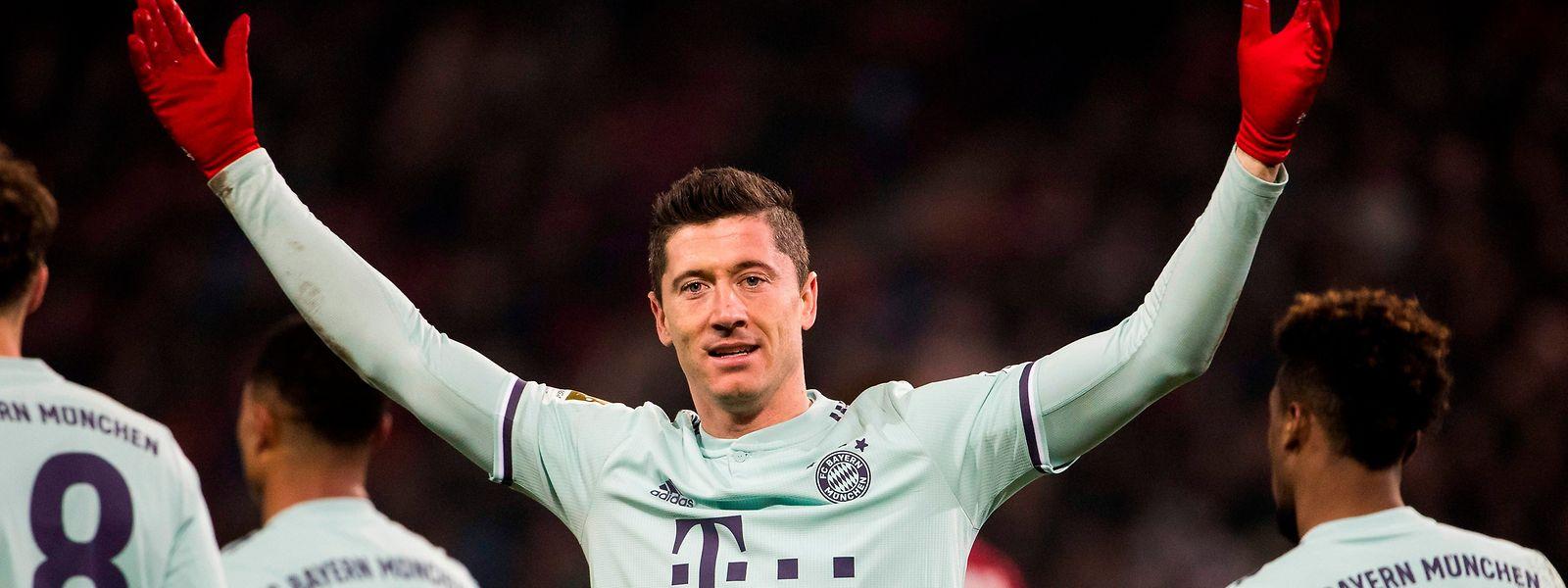 Robert Lewandowski fühlt sich beim FC Bayern wohl.