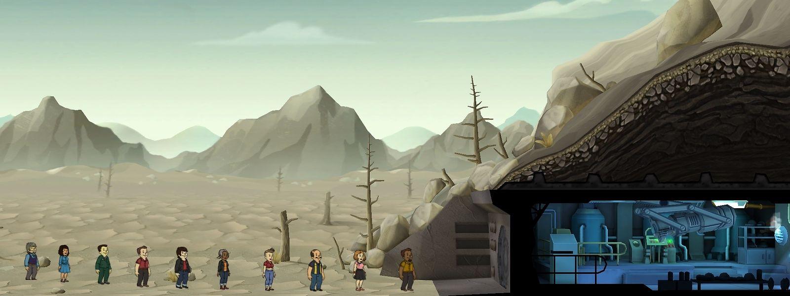 Anstellen zum Überleben: In Fallout Shelter verwaltet der Spieler einen Atombunker und muss das Überleben der Bewohner sichern.