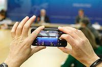 Wirtschaft, Dan KERSCH, Franz FAYOT, Konferenz, chômage partiel, Teilarbeitslosigkeit,  Foto: Anouk Antony/Luxemburger Wort