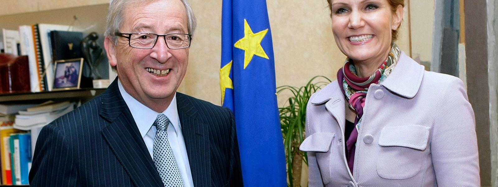 Sieht so das kommende Spitzenduo in der EU aus? Jean-Claude Juncker und Helle Thorning-Schmidt bei einem Staatsbesuch der dänischen Ministerpräsidentin in Luxemburg im Jahre 2011.