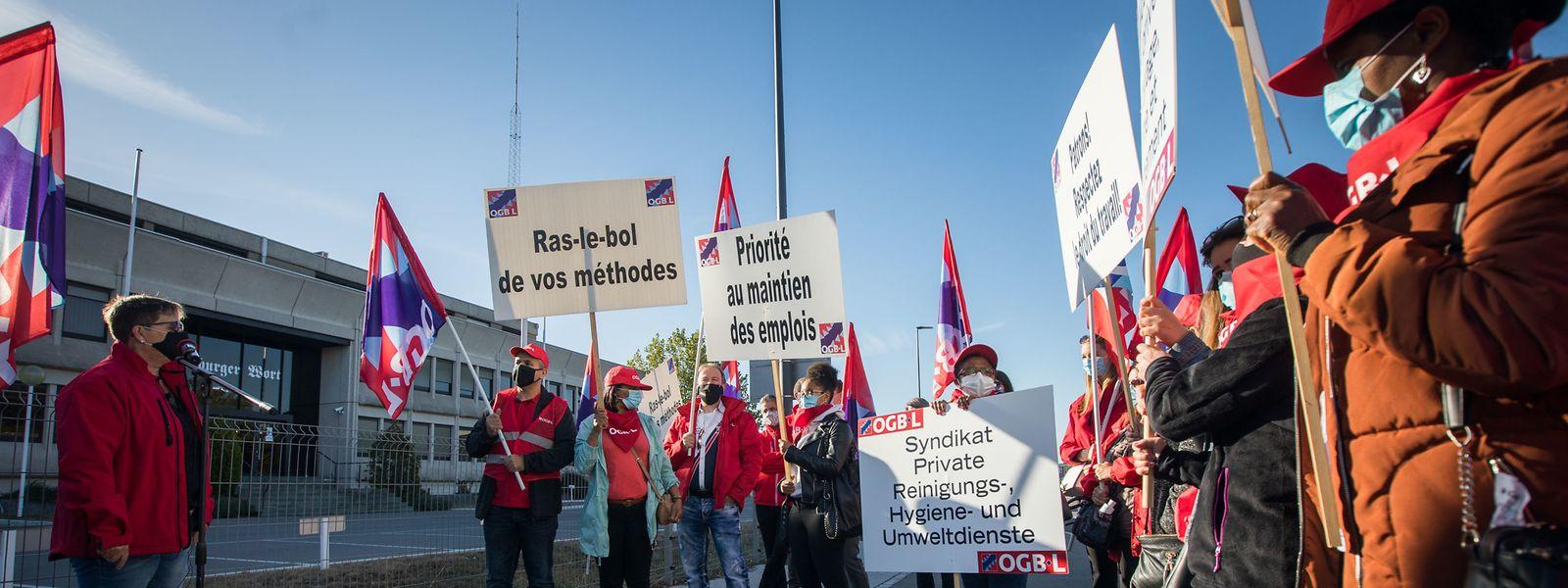 Am Dienstag fand die Protestaktion in Gasperich statt.