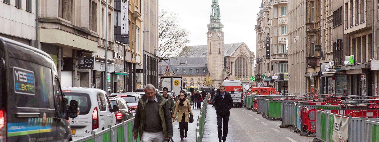 Les travaux du tram, qui perturbent actuellement, le quartier de la Gare doivent s'achever fin 2020.
