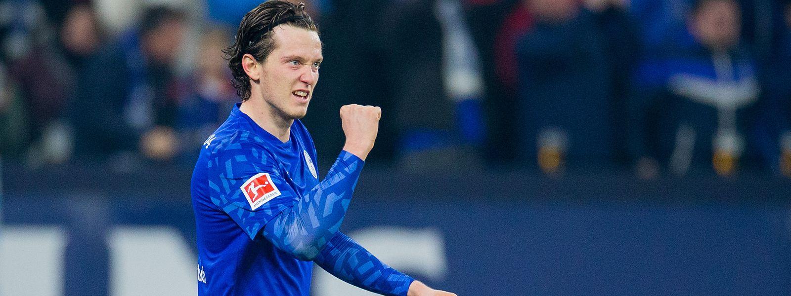 Schalkes Michael Gregoritsch bejubelt sein Tor zum 2:0.