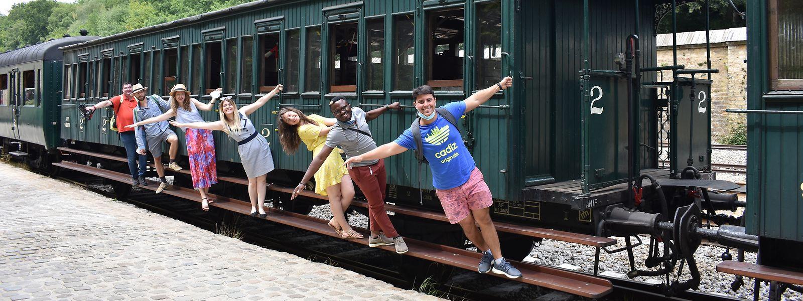 """Im Juli 2020 haben die Studierenden einen Ausflug zum """"Train 1900"""" gemacht. Regelmäßig geht es für die Teilnehmenden samstags an verschiedene Orte im und um das Großherzogtum herum."""