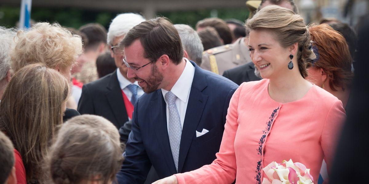 Ein herzlicher Empfang erwartete das Erbgroßherzogliche Paar in Esch/Alzette.