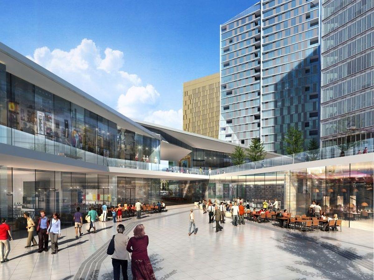 Une belle esplanade est prévue où des terrasses de restaurant ou bar pourront être installées.