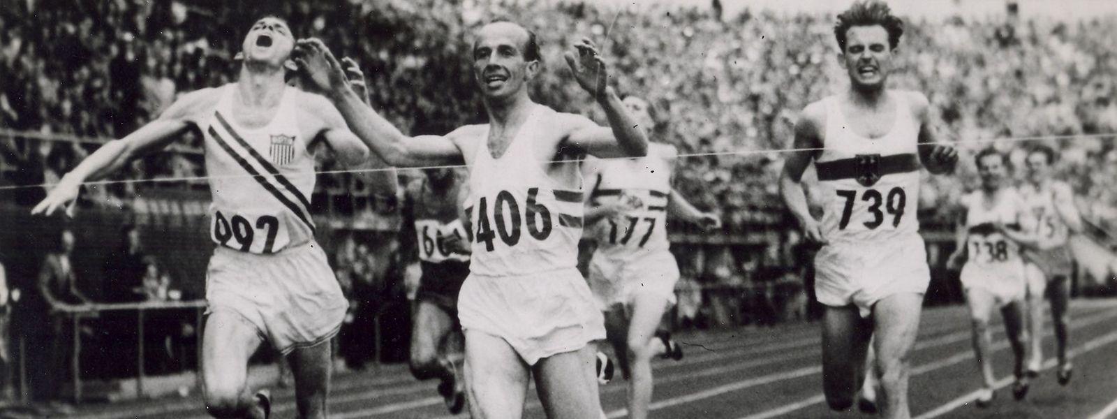 Josy Barthel gewann in Helsinki Gold über 1 500 m.