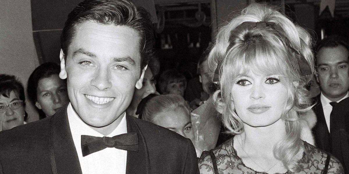 Alain Delon et Brigitte Bardot à Mexico en 1965