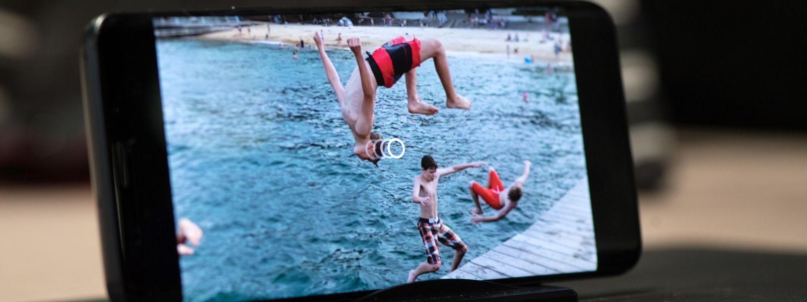 Die Superzeitlupen-Option des Samsung Galaxy S9 schießt kurze Clips mit bis zu 960 Bildern pro Sekunde.