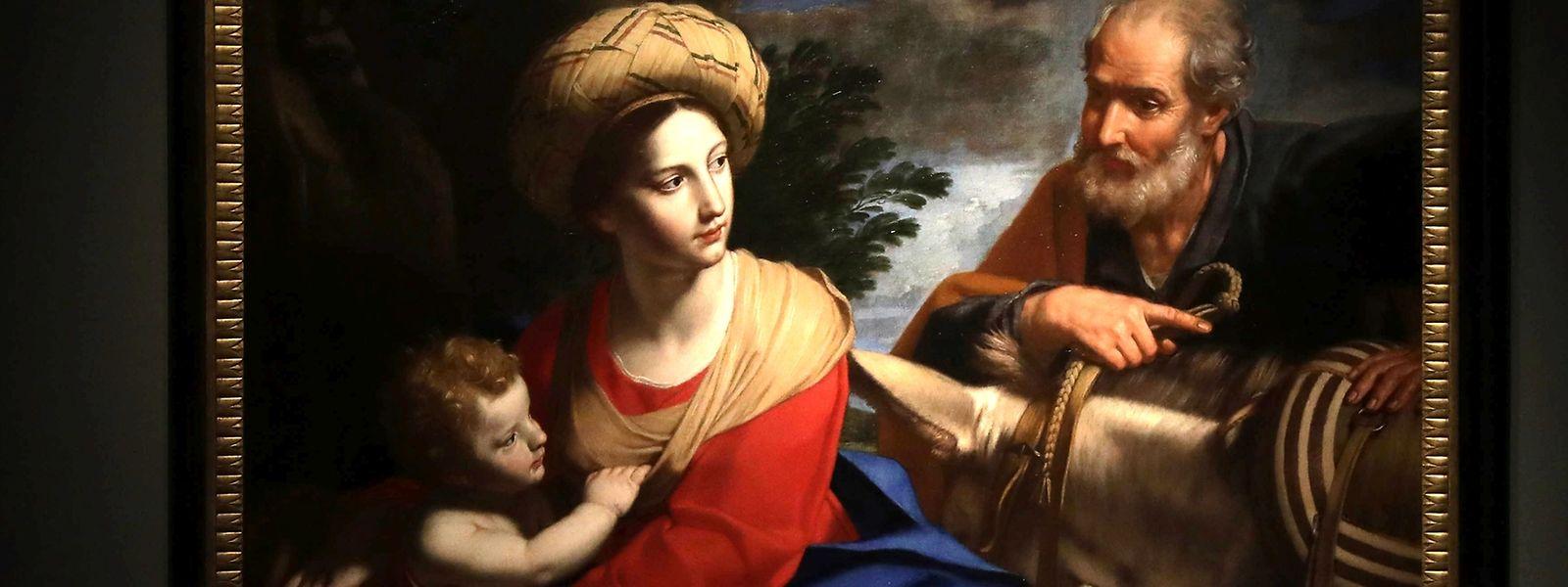 """Joseph bedeutet Maria in """"Flucht nach Ägypten"""" den Aufbruch. Das Gemälde von Michele Desubleo ist aufgrund eines Details etwas Besonderers."""
