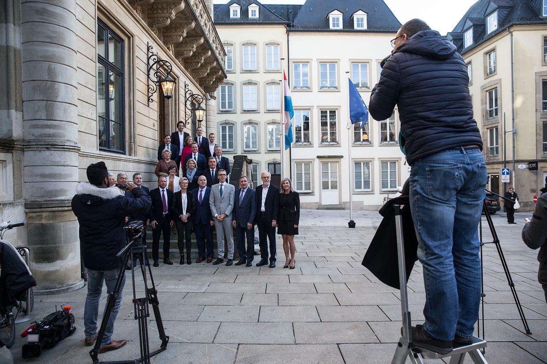 Die CSV-Fraktion um die neue Fraktionschefin Martin Hansen.