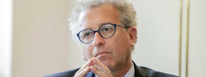 Interview de Pierre Gramegna pour le supplément des banques / Foto: Steve EASTWOOD