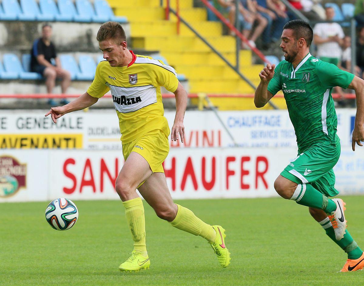 David Turpel (l.) und F91 trafen 2014 bereits auf Ludogorets Rasgrat.