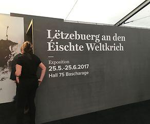 Vernissage vun der Expo iwwer den Éischte Weltkrich an der Hal 75