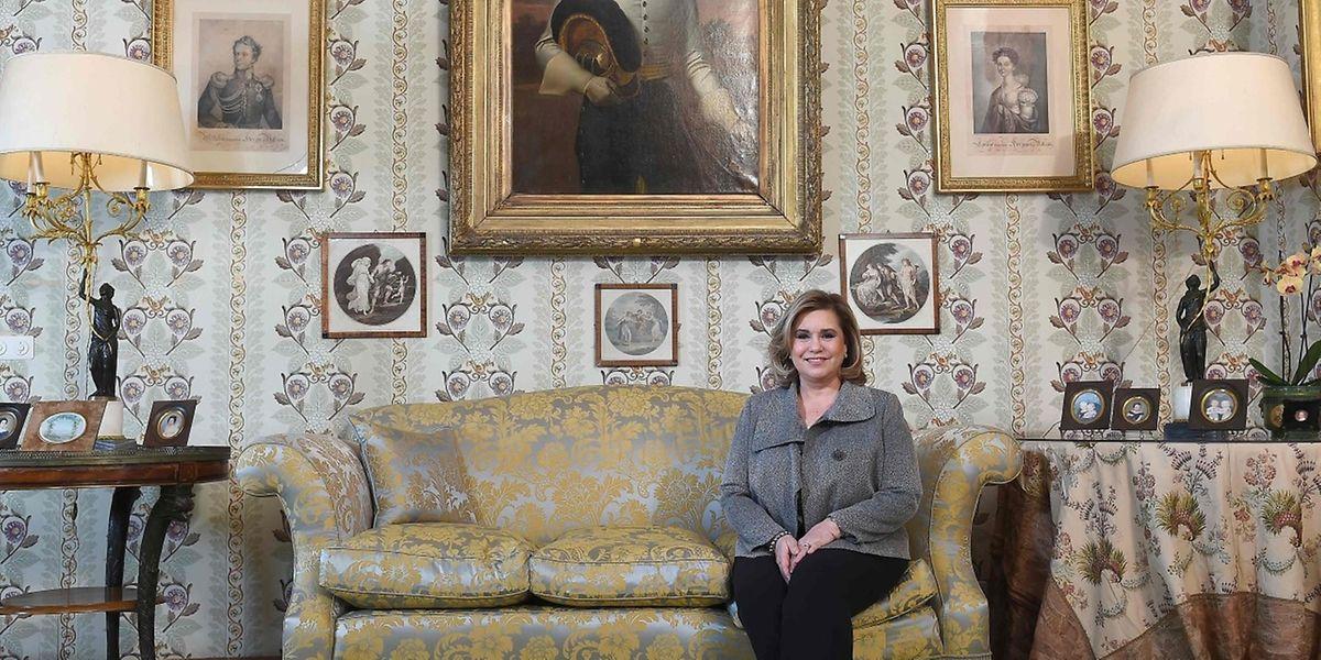 Großherzogin Maria Teresa, hier auf Schloss Berg, würde gerne humanitäre Hilfe in ihrem Heimatland Kuba leisten.
