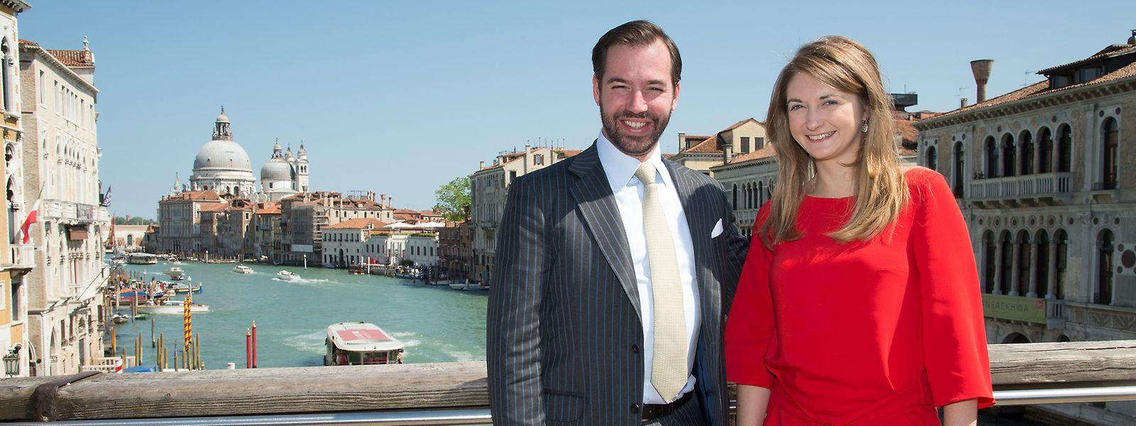 Vor der Eröffnung genoss das erbgroßherzogliche Paar den Aufenthalt in Venedig.